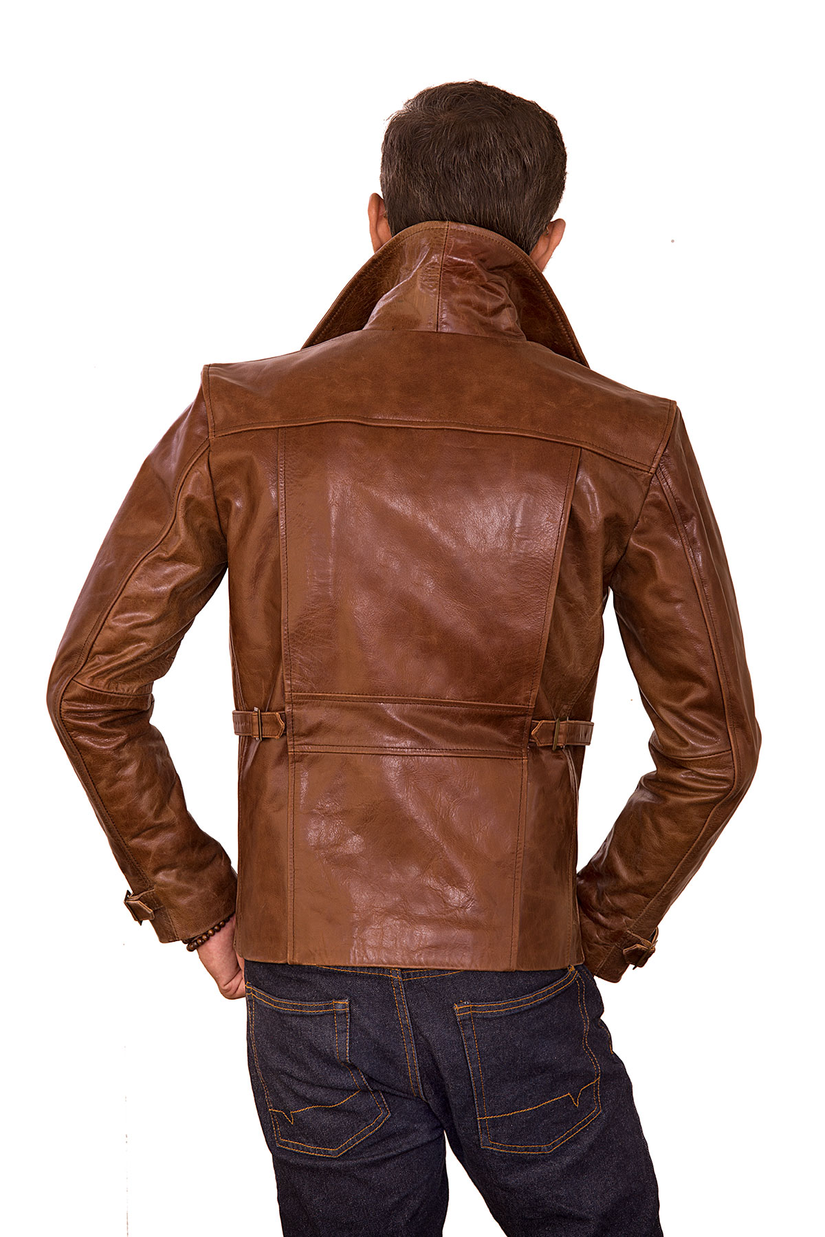 mens leather moto jacket outfit