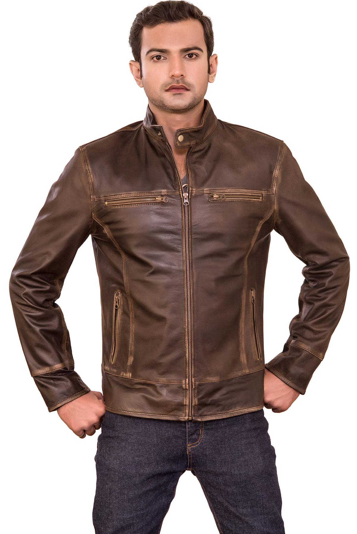 biker leather jacket cafe racer