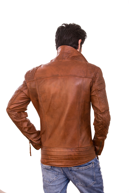 branded mens vintage style leather jacket