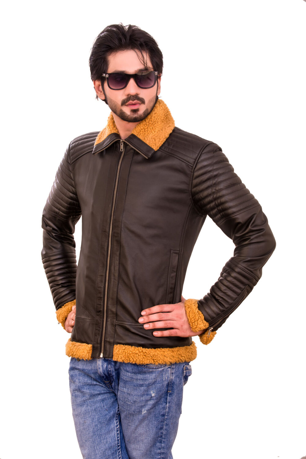 Victor Rider Brown Leather Jacket with Fur