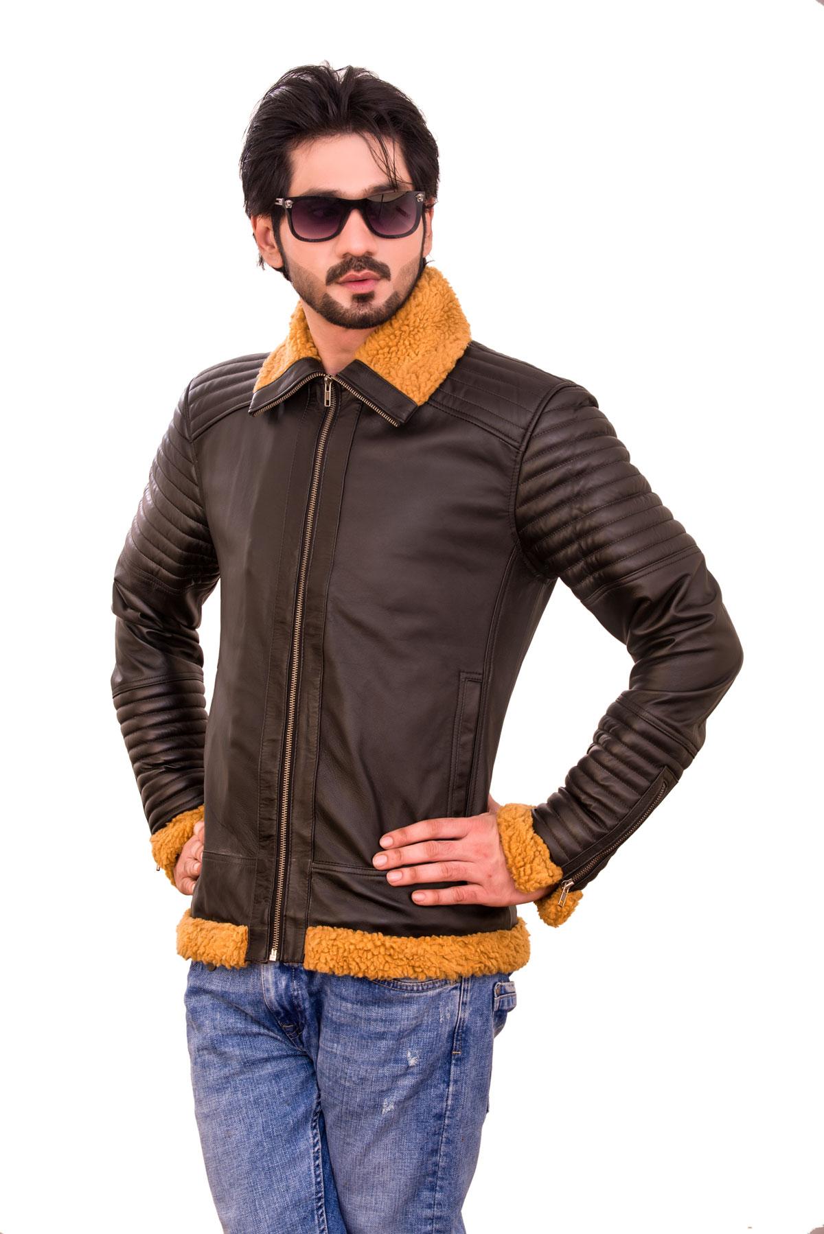 men's korean fashion leather jacket