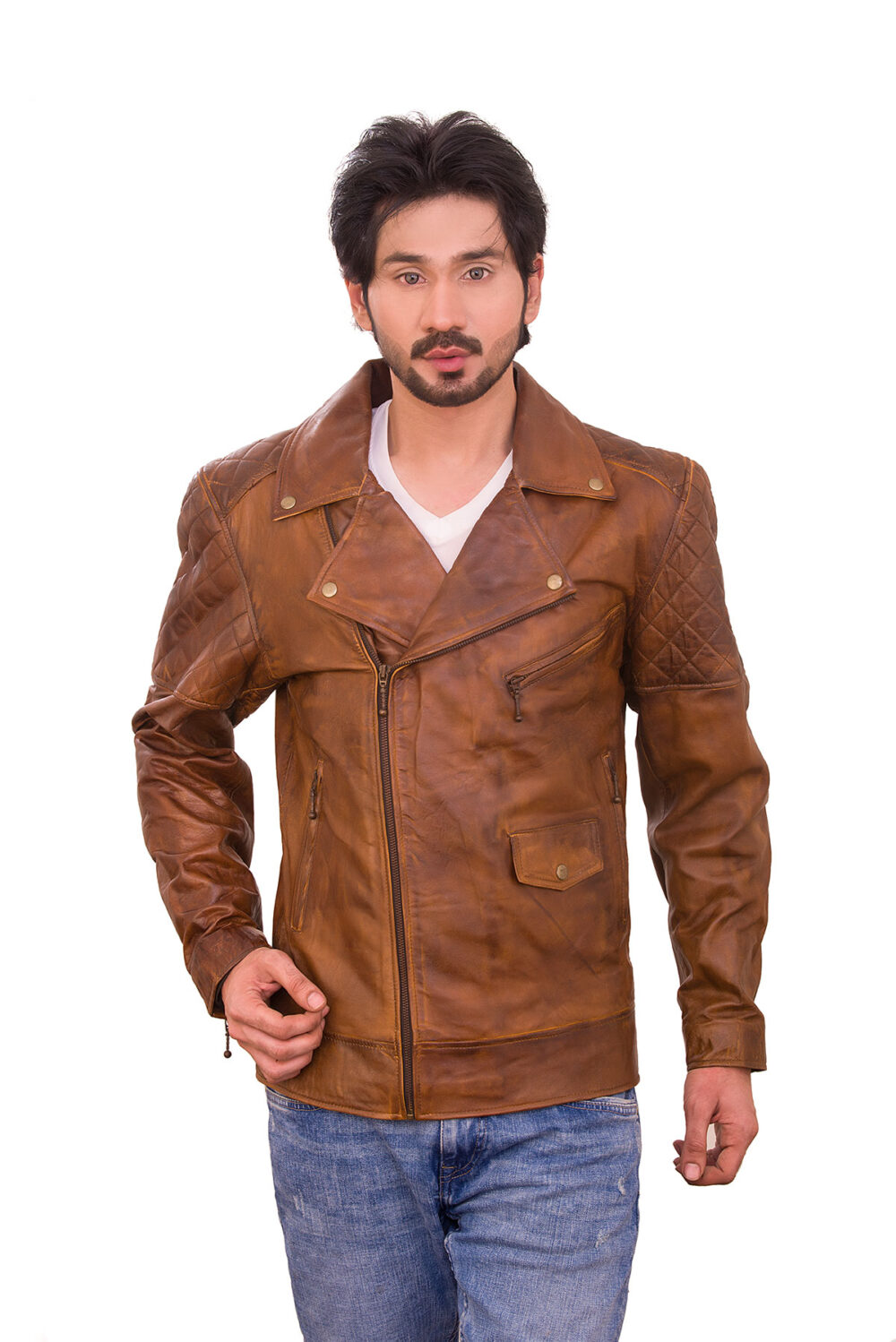 womens quilted sheepskin leather jacket