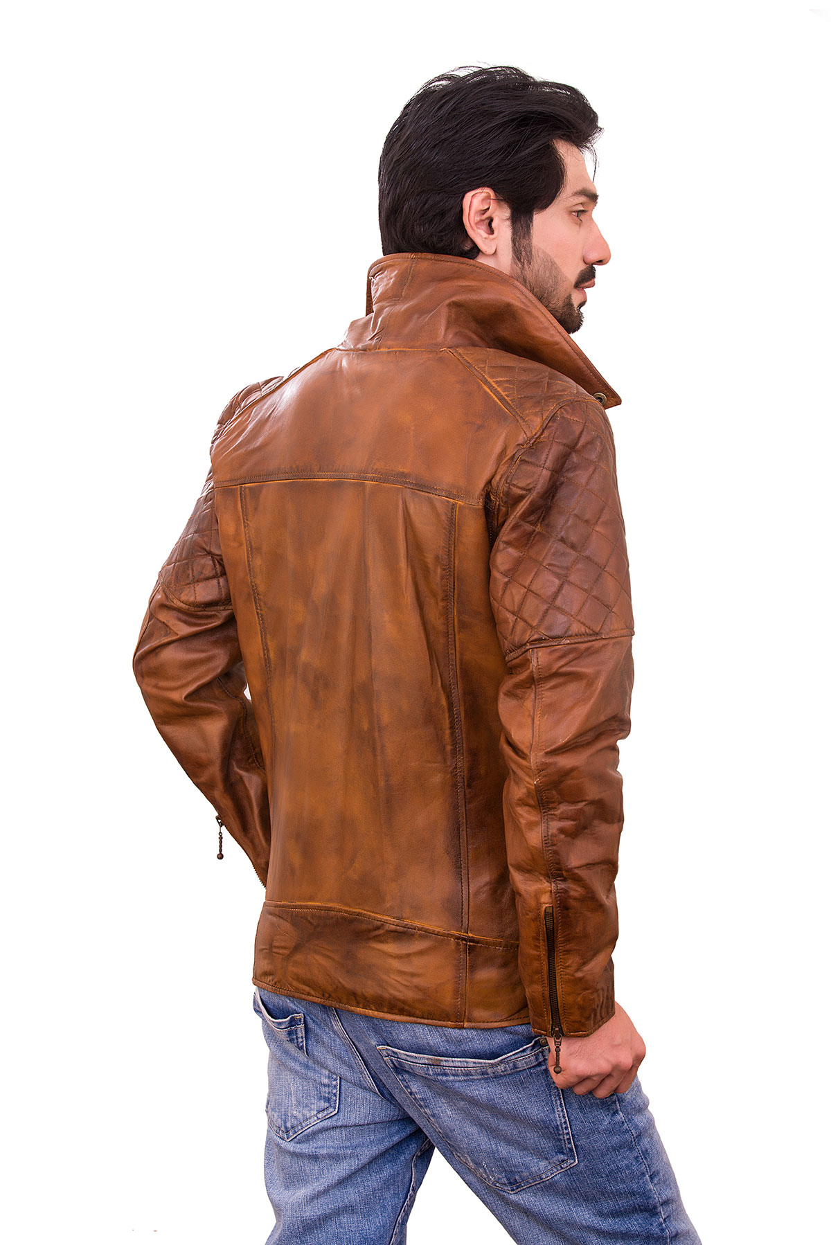 racer biker leather jacket