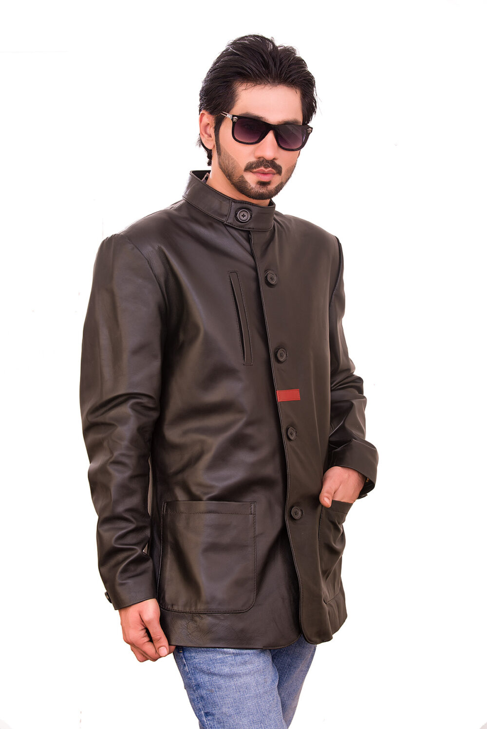 genuine leather jacket mens amazon