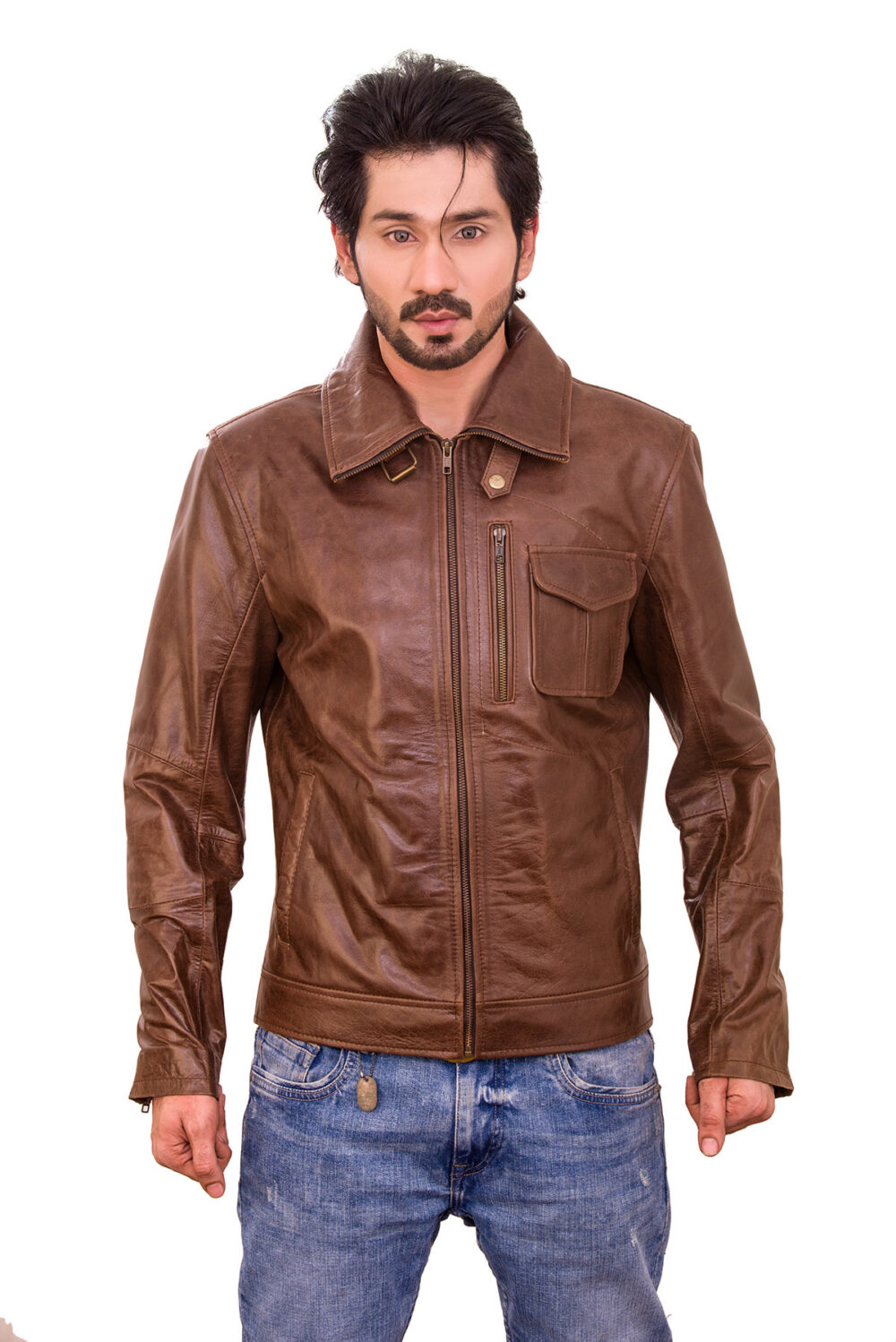 Mirage Antique Brown Classic Leather Jacket