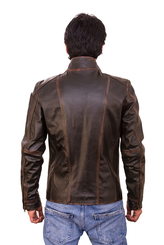 Magnum Moto Vintage Waxed Brown Leather Jacket