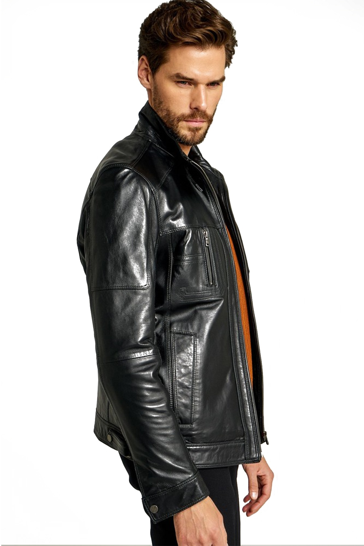 mens fur and leather coats