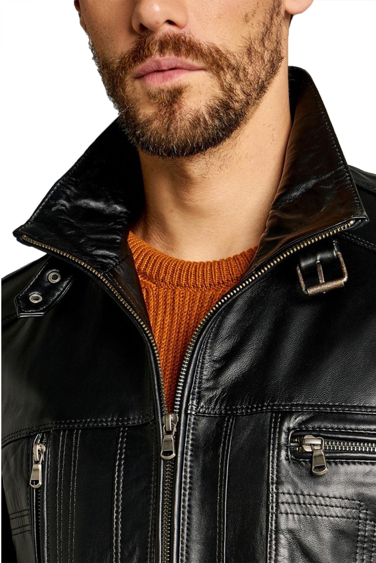 leather jacket guy