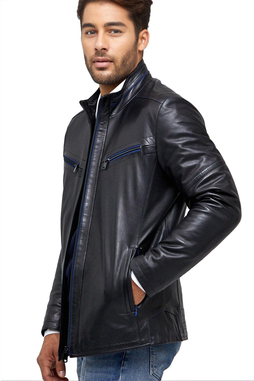 black leather blazer womens