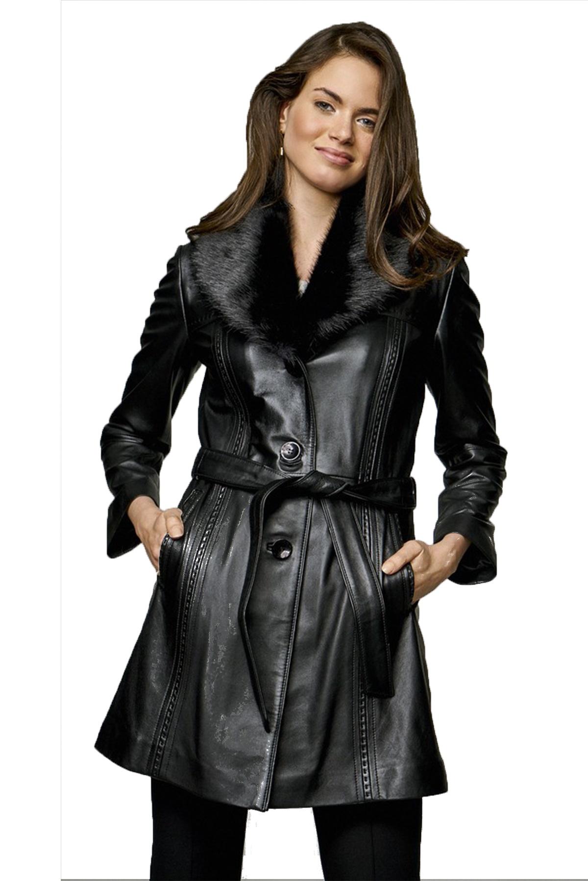 vintage hooded genuine leather jacket