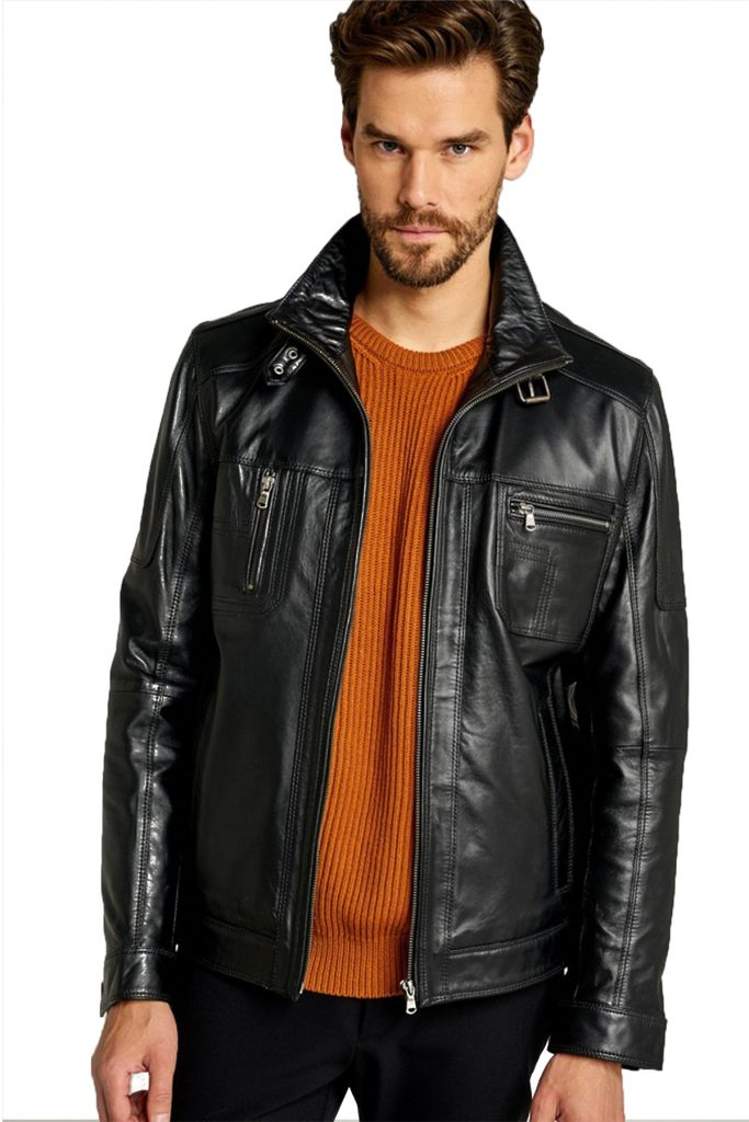 Muller Black Men's Classic Leather Jacket