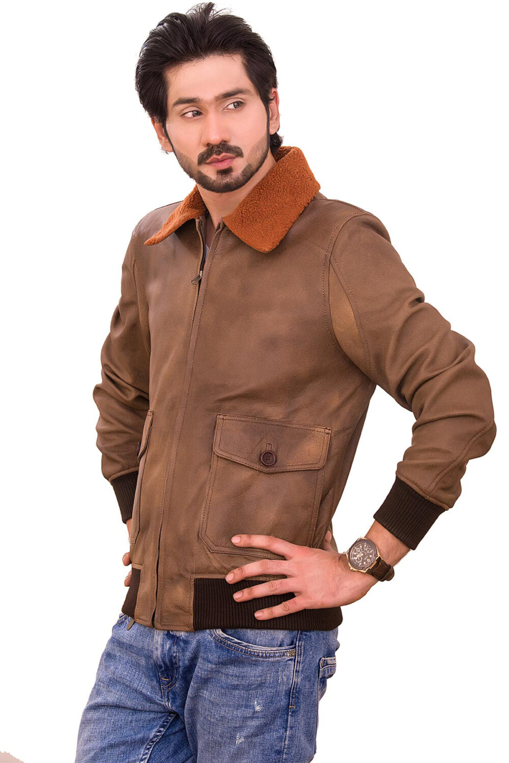 where to buy mens leather jacket