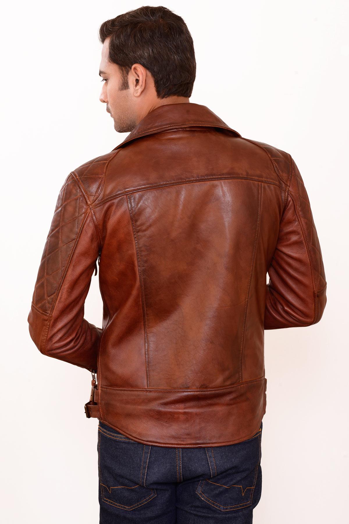 genuine leather jacket made in korea