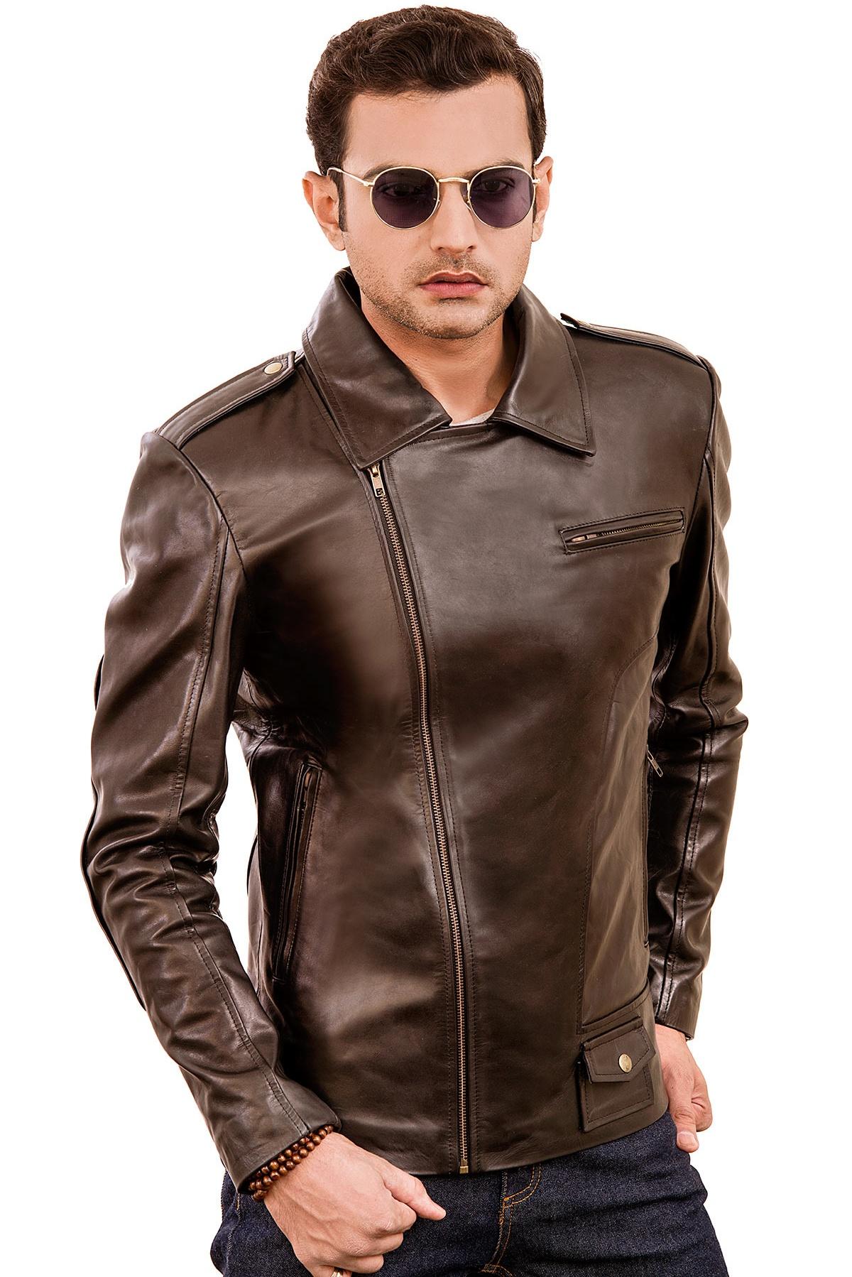 racer leather jacket men's