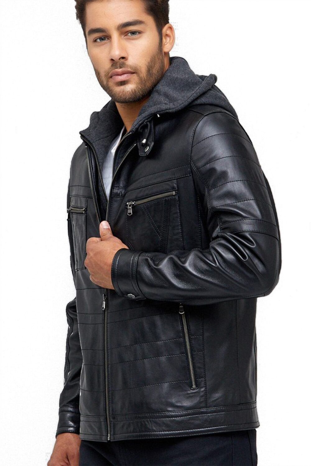 real leather jacket plus size
