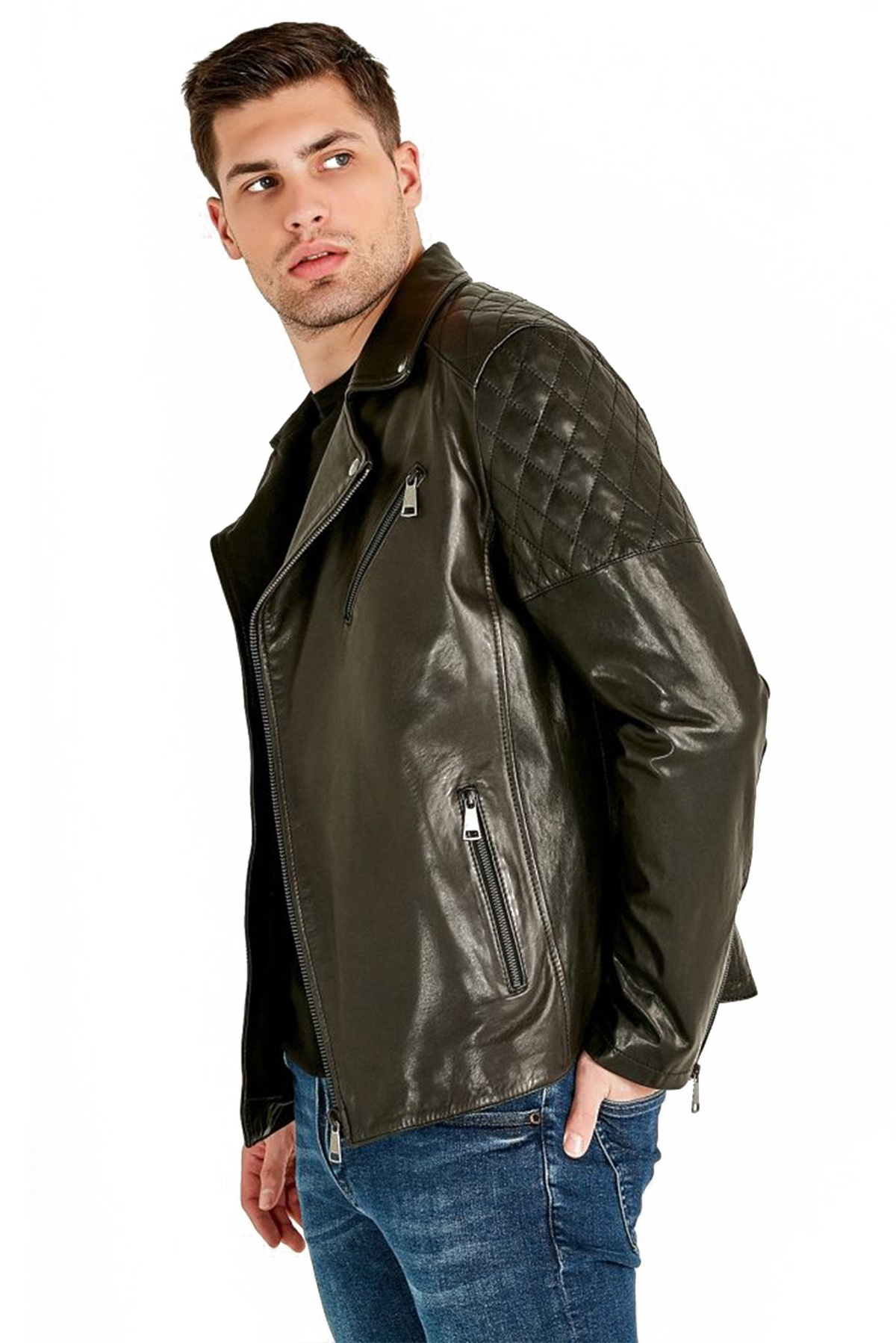 periwinkle leather jacket