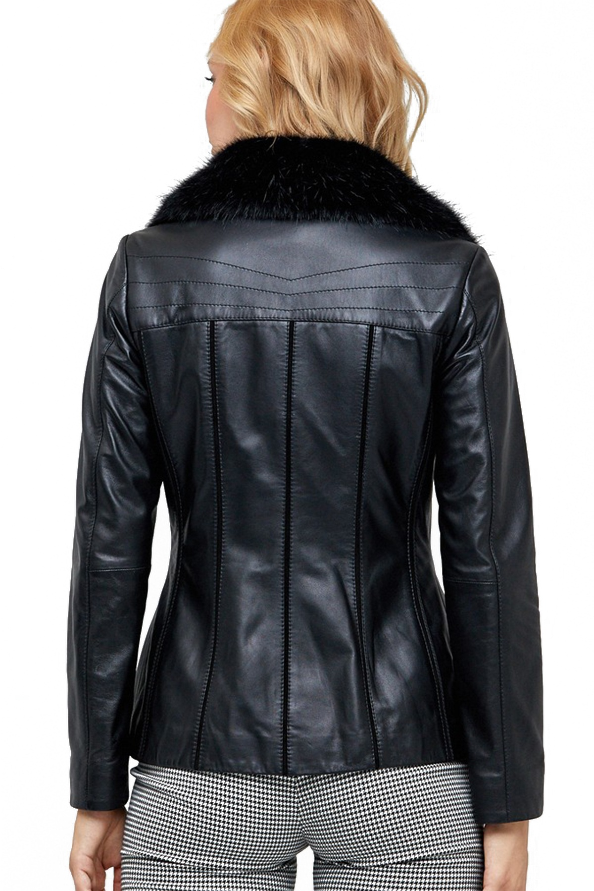 womens hooded leather jacket