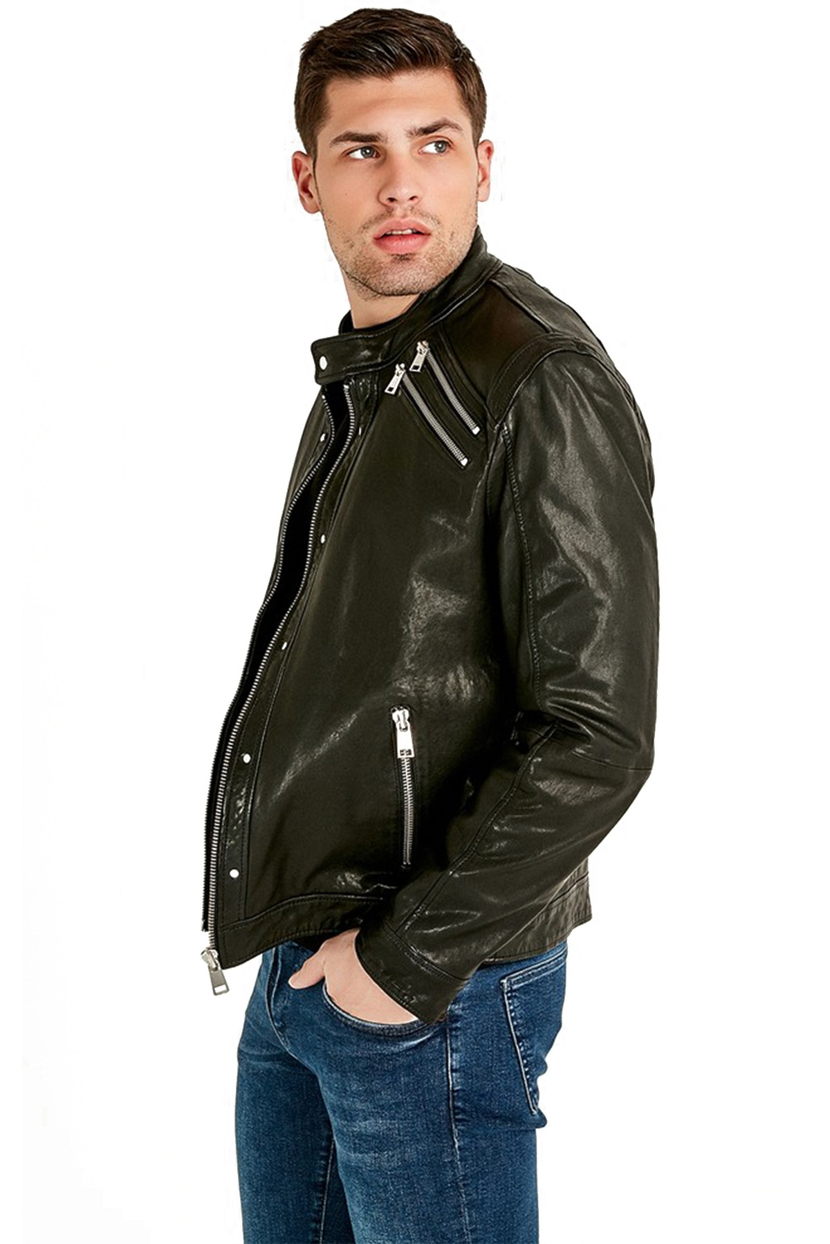 Westbrook black leather jacket