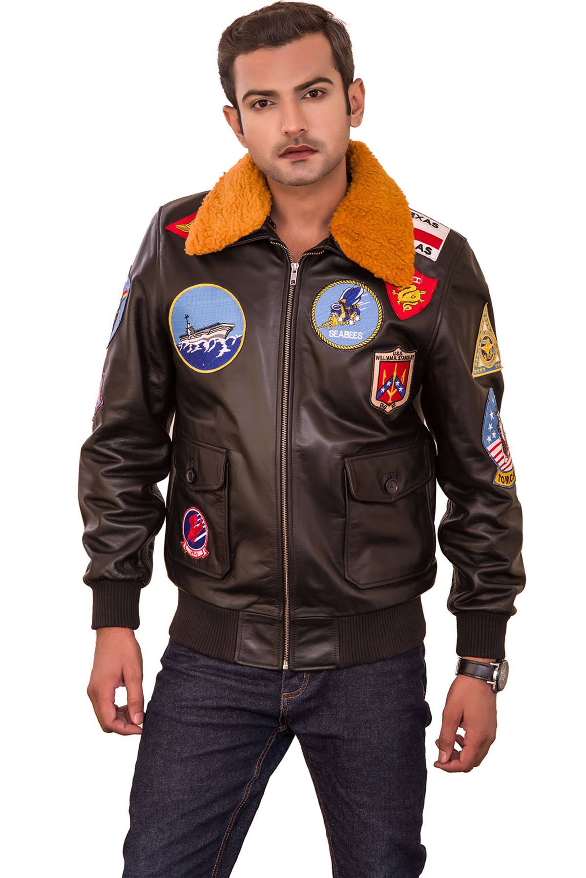 leather jacket mens stores near me
