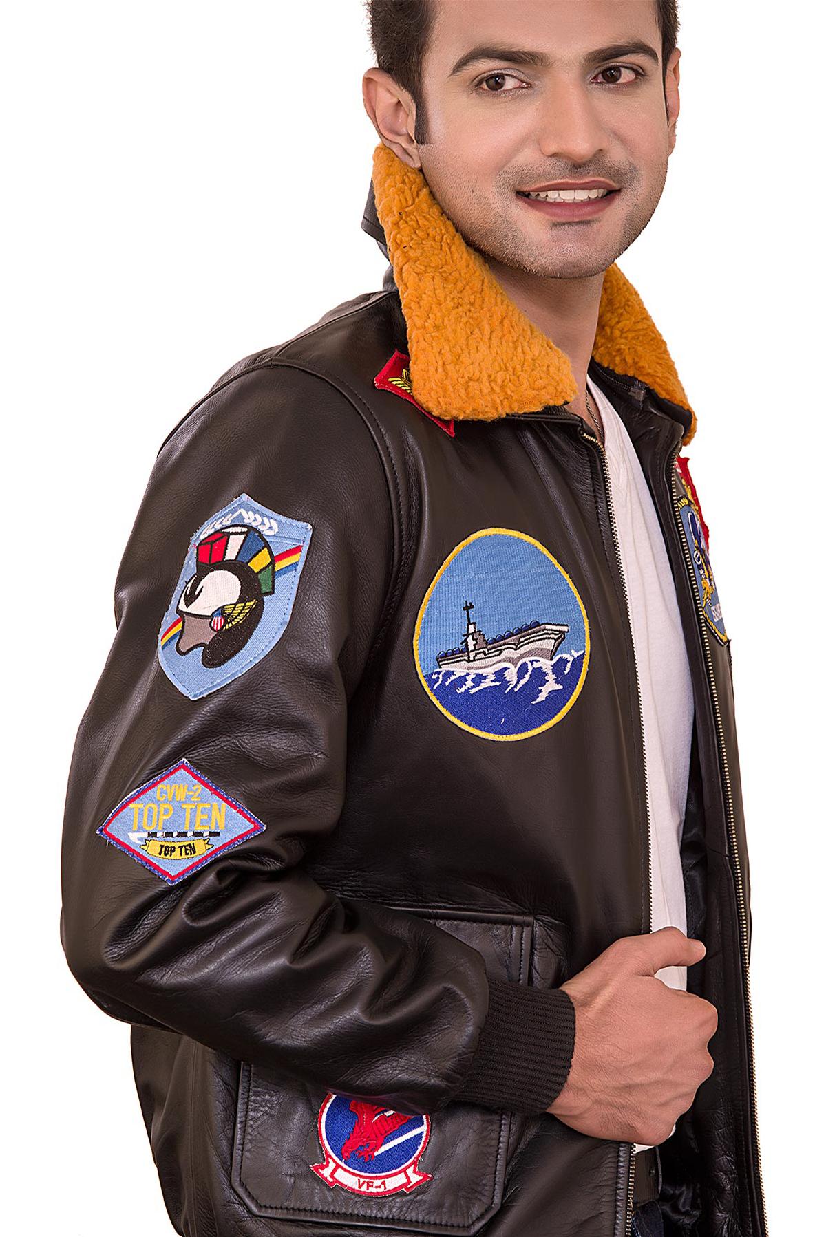 brown aviator jacket mens