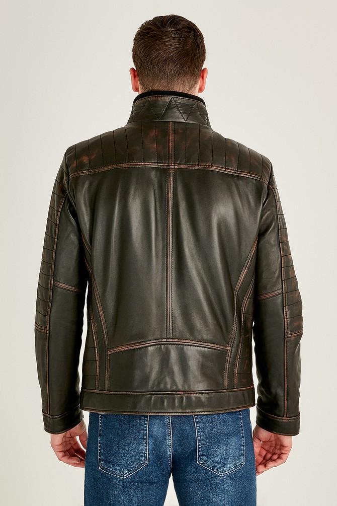 Bruno Classic Men's Black Leather Jacket