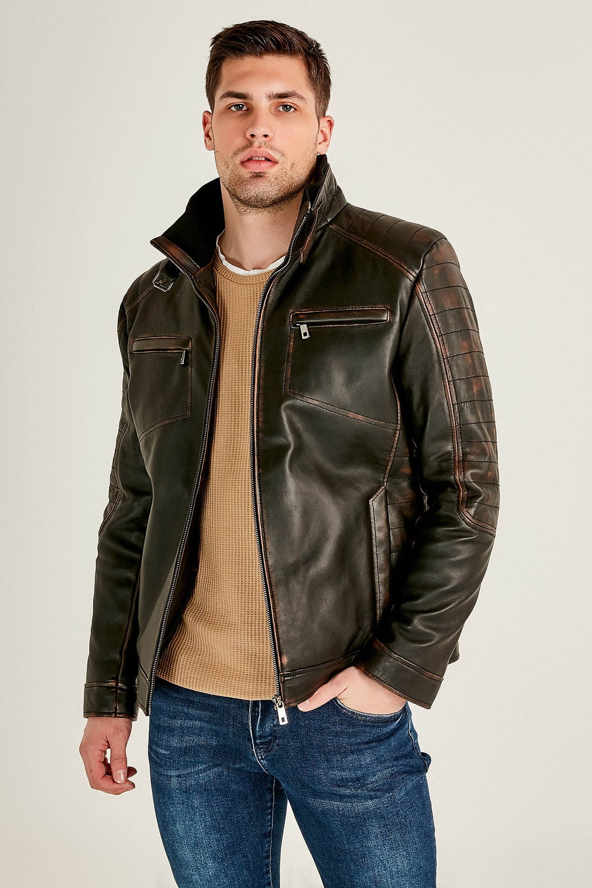 how to identify real leather jacket