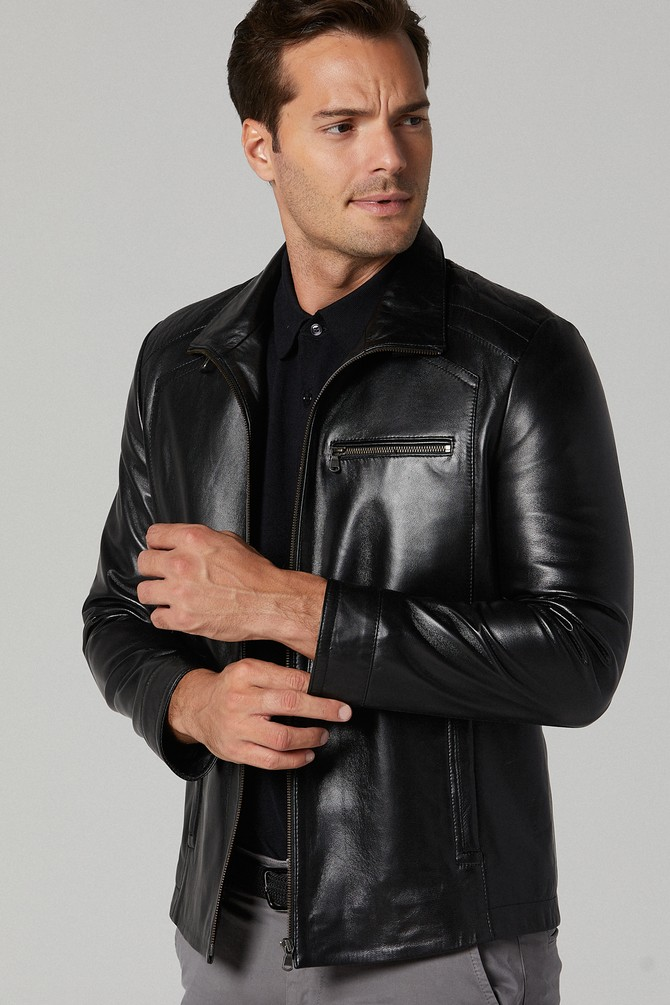 genuine leather jacket mens kohls