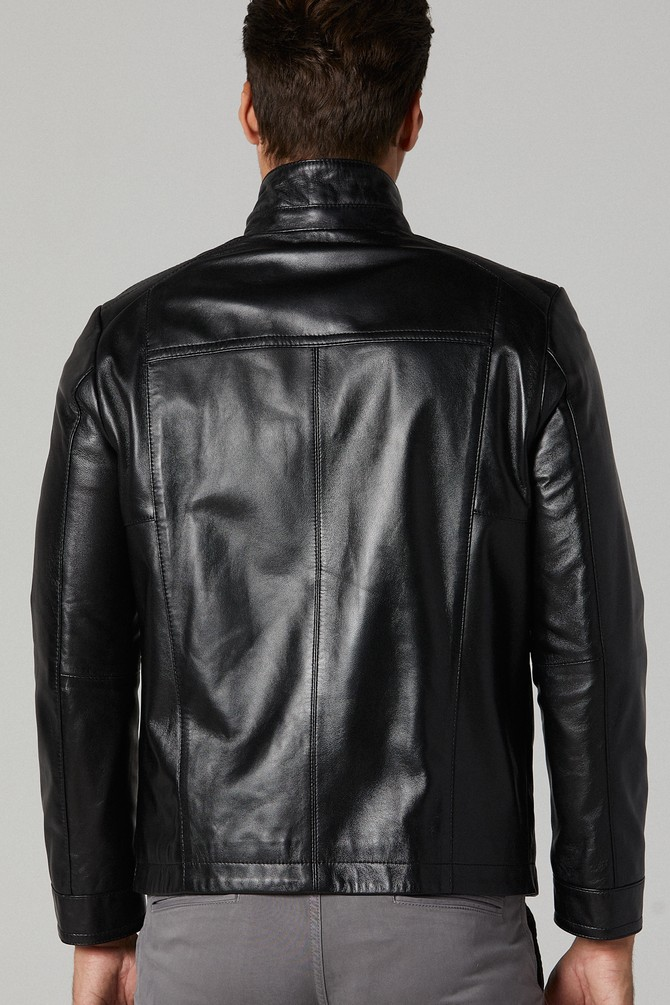 real leather jacket size 20