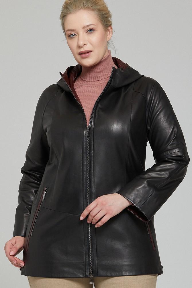 ladies black real leather biker jacket