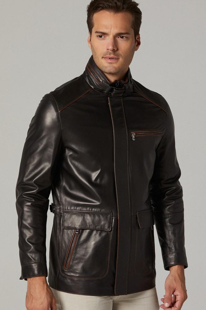 genuine leather jacket mens india