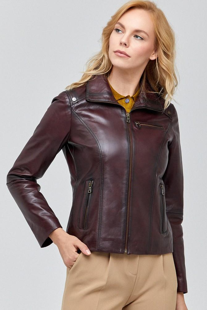 Original maroon leather jacket