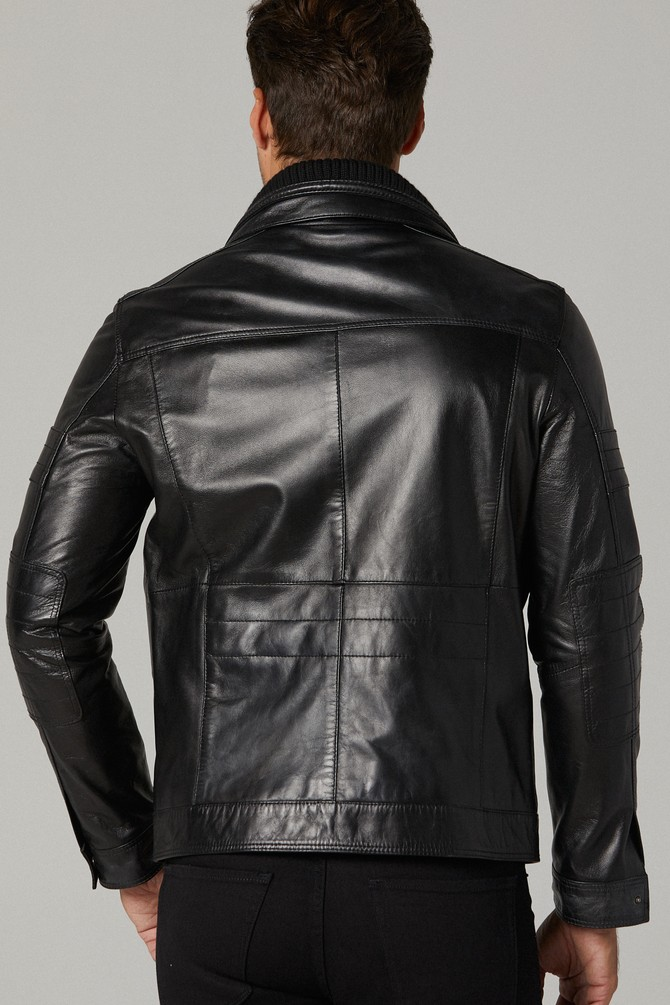Hudson Men's Classic Black Leather Jacket