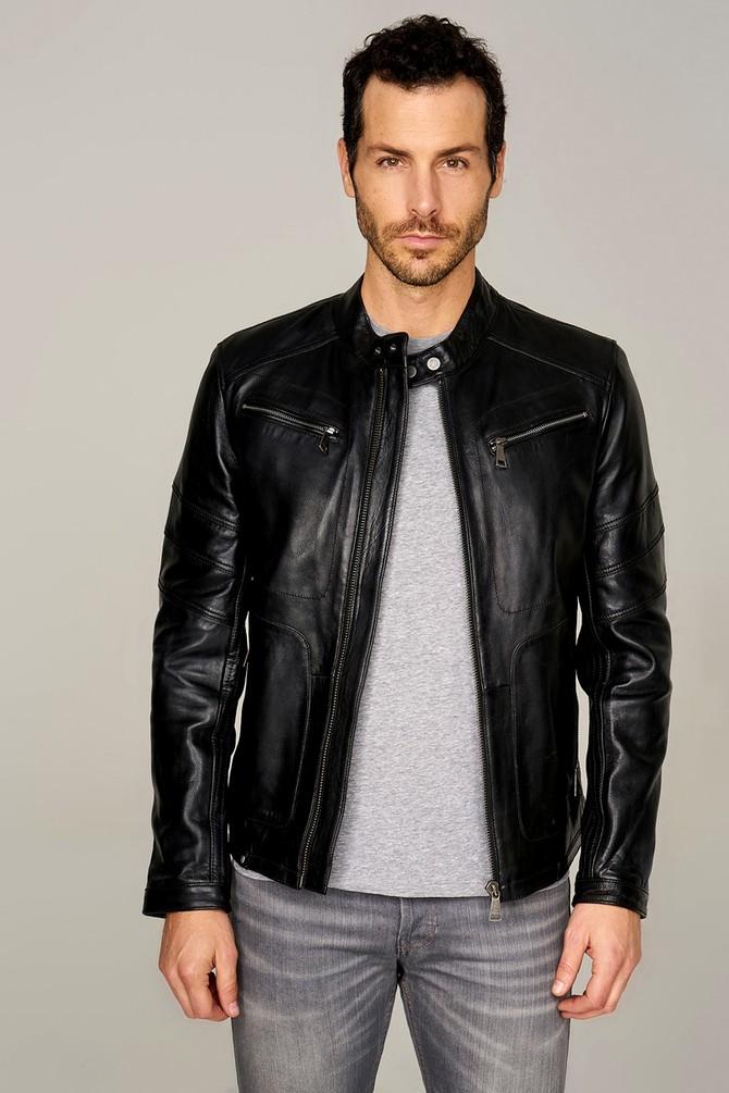 mens fur lined leather jacket