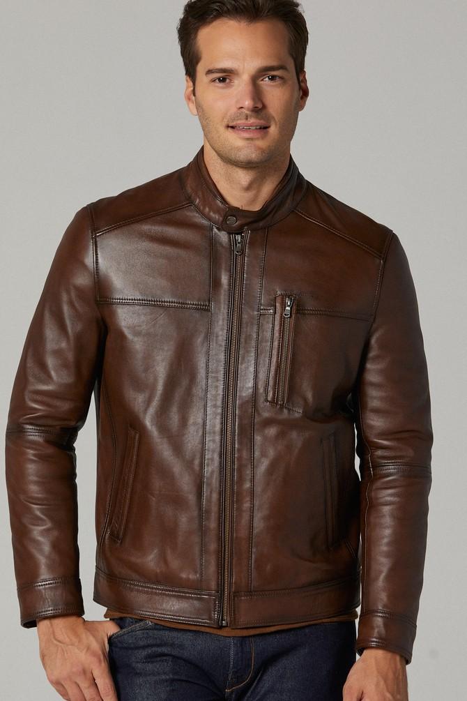 Ford Vintage Brown Leather Jacket