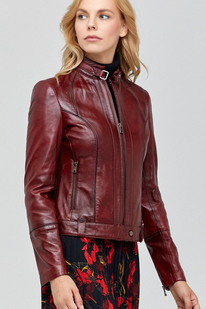 Original maroon leather jacket