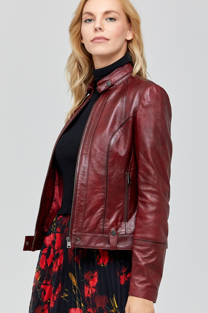 Best Irma maroon leather jacket