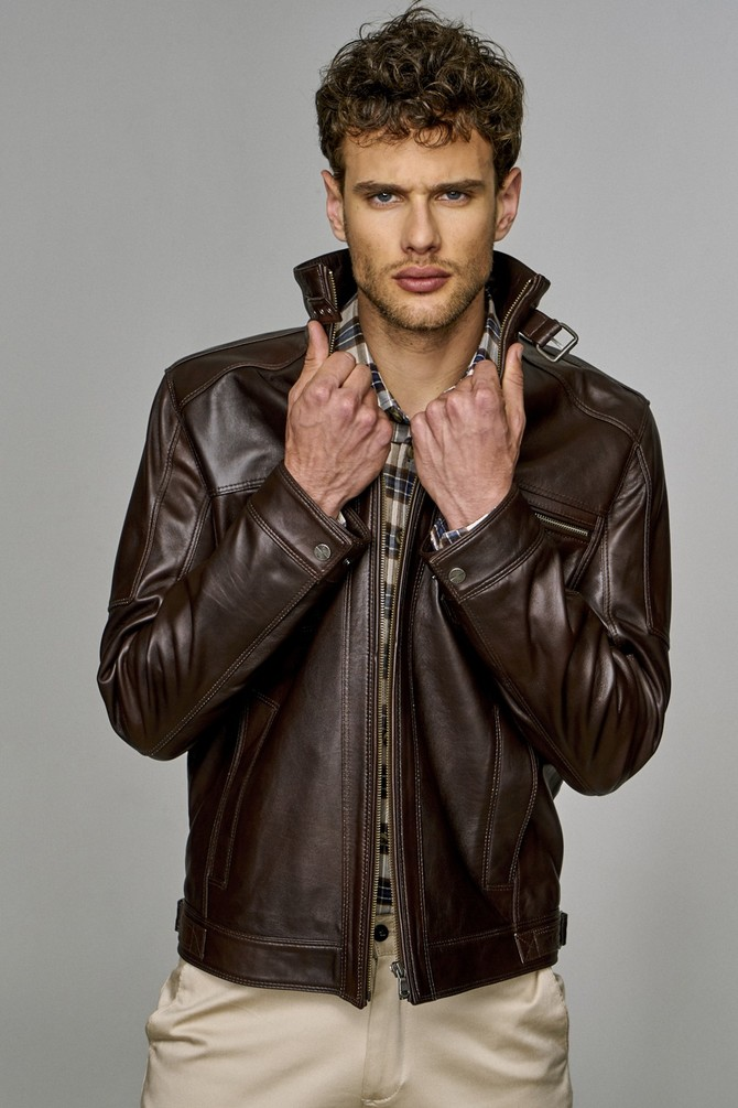 Muller Brown Men's Classic Leather Jacket