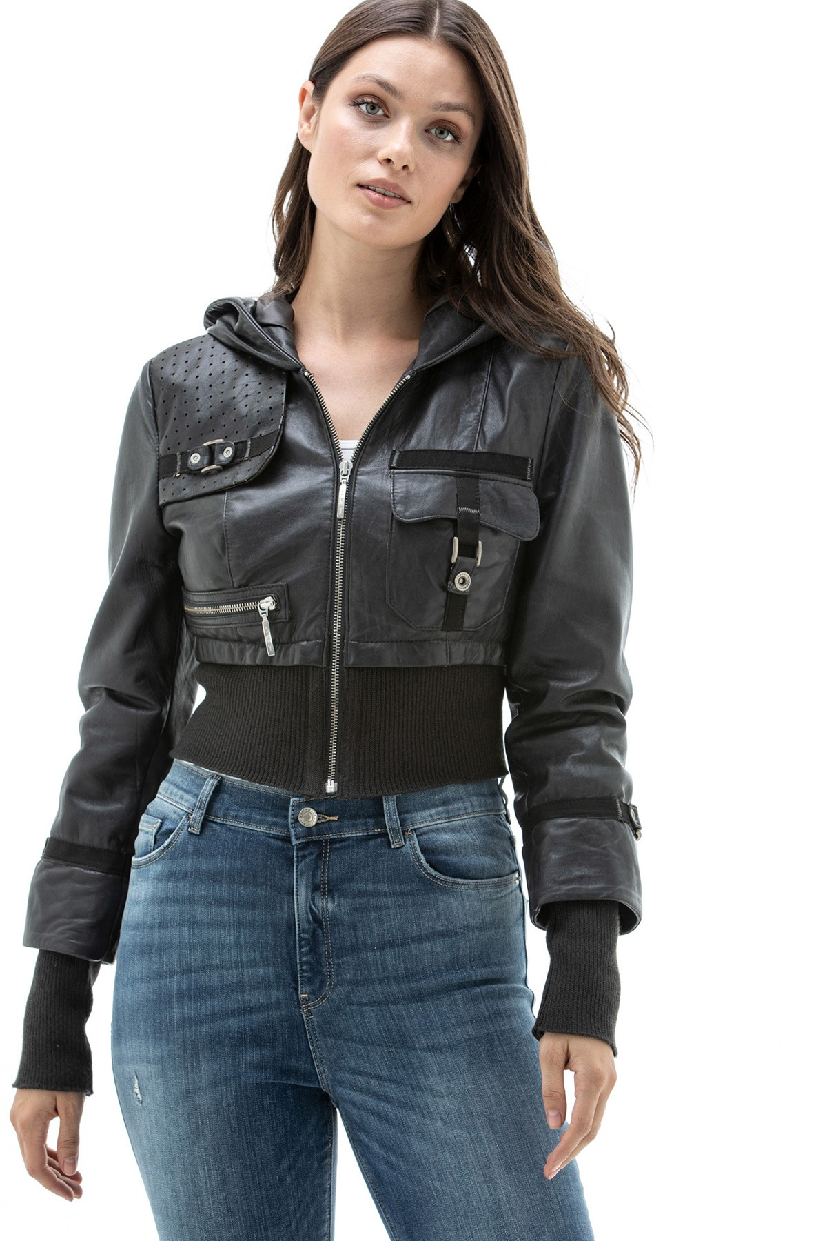 Black Burberry Leather Jacket
