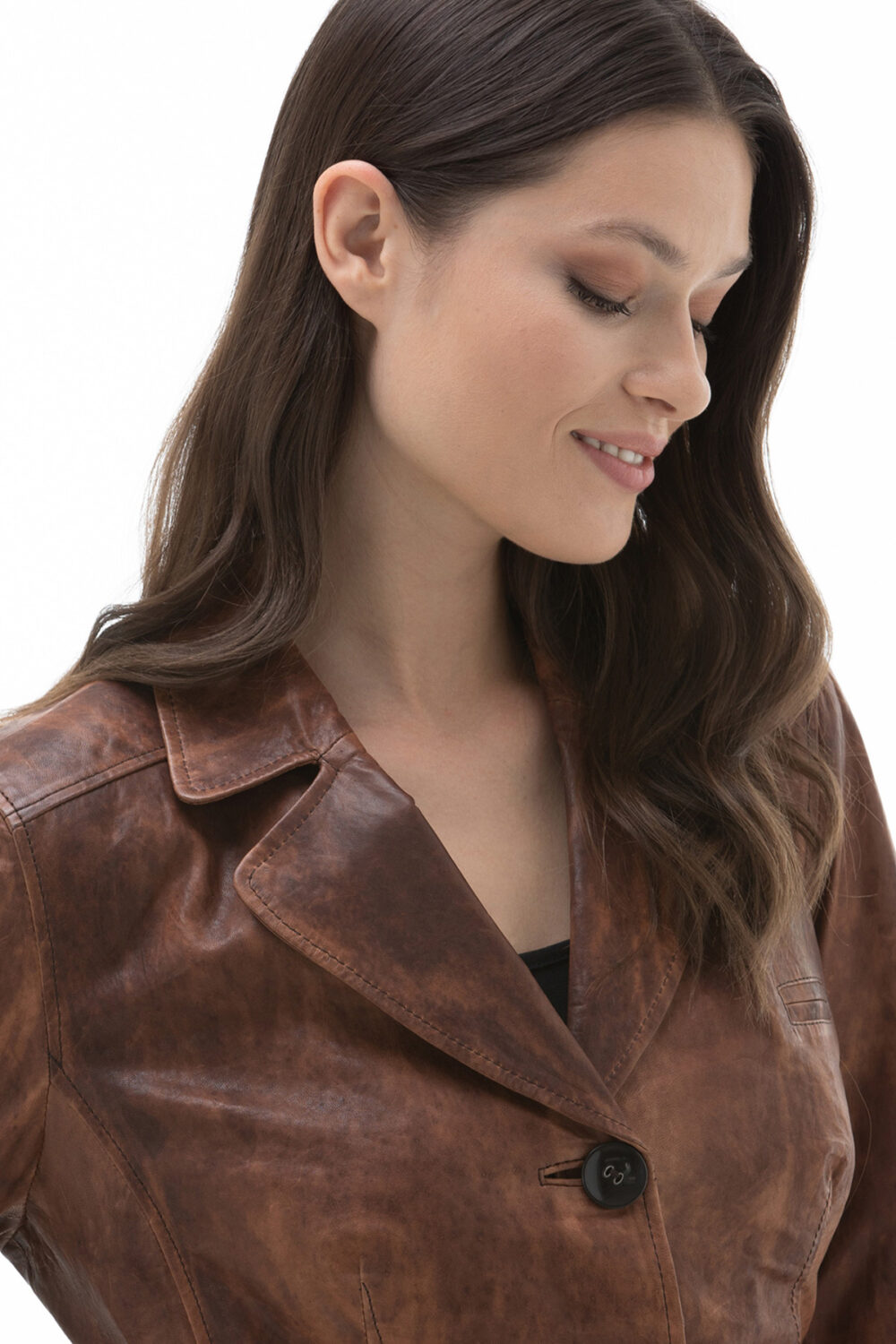 Female In Leather Jacket