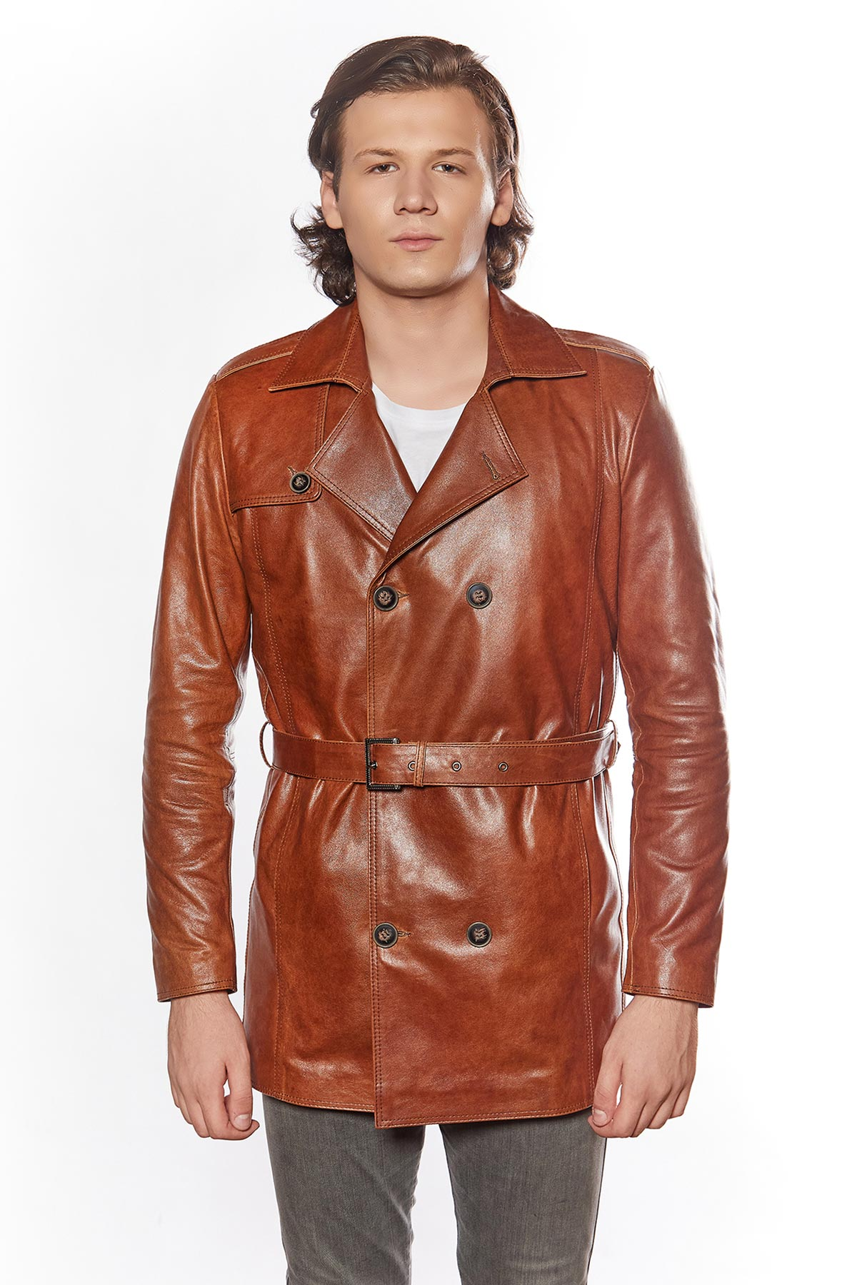 lined leather jacket mens