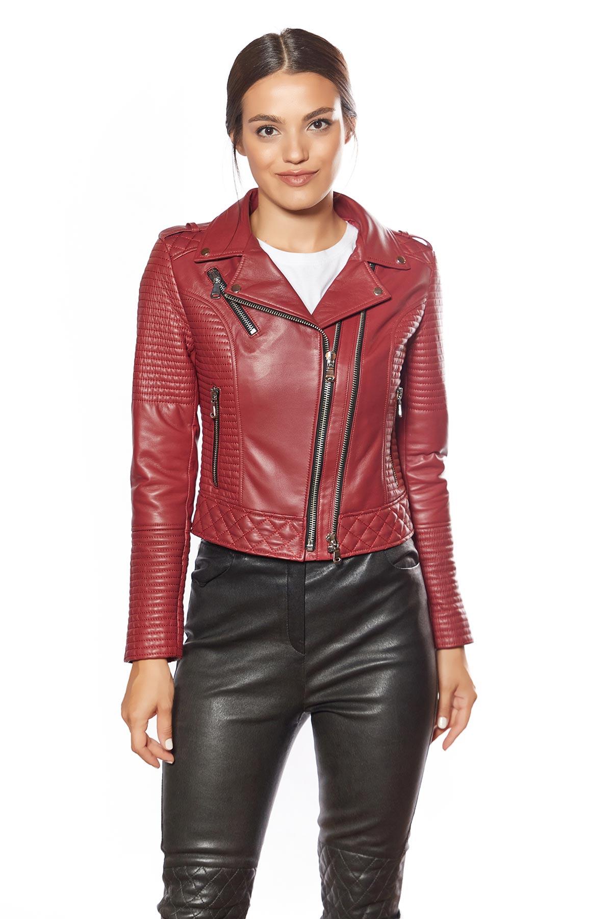 asymmetrical leather jacket womens