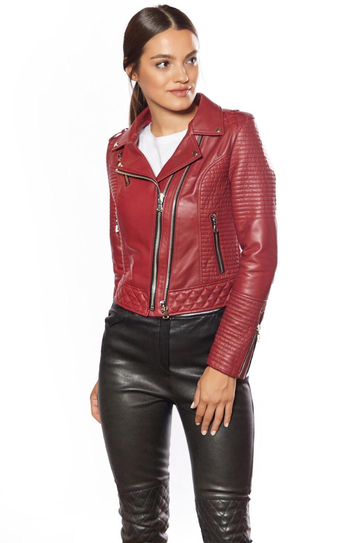 red cafe racer jacket