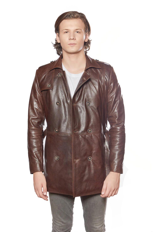 leather jacket long