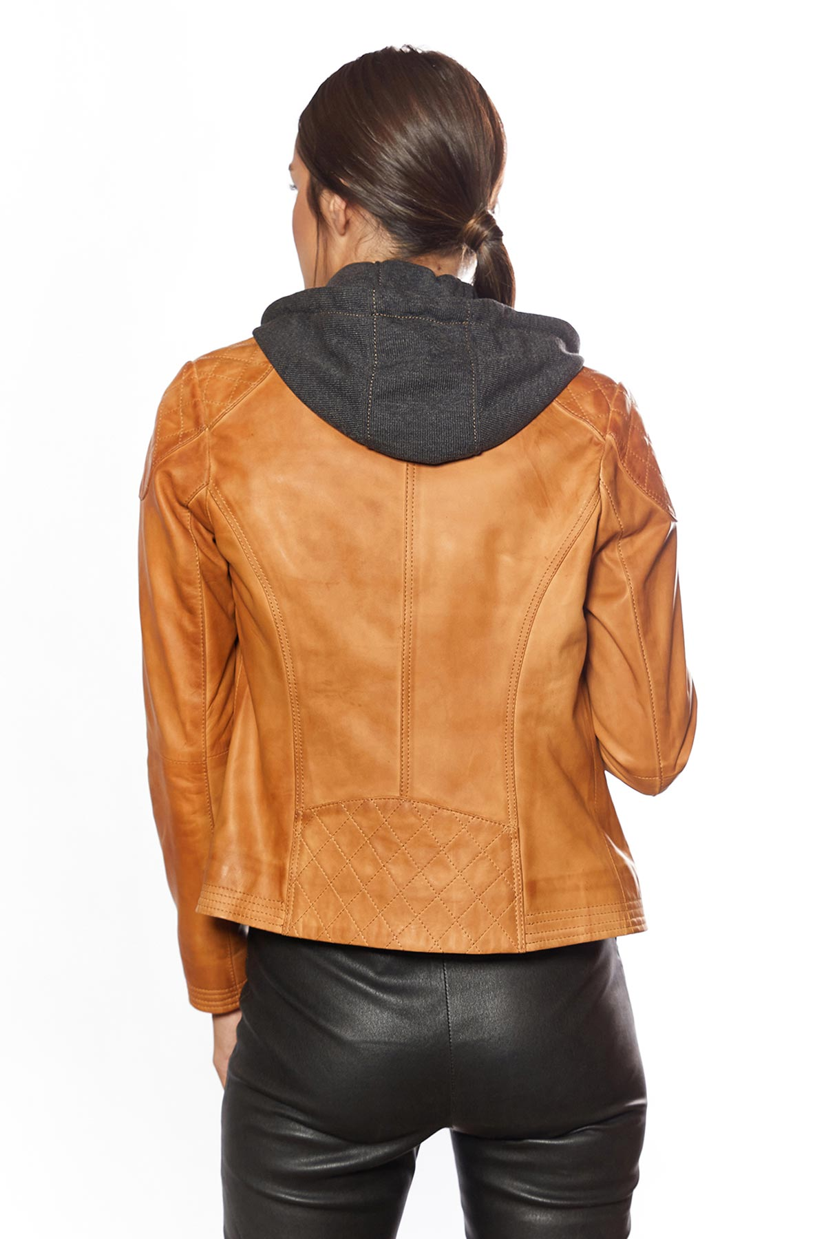 black or brown leather jacket womens