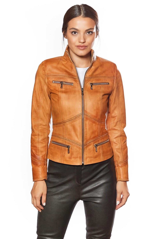 Eva Mais Genuine Leather Sport Jacket
