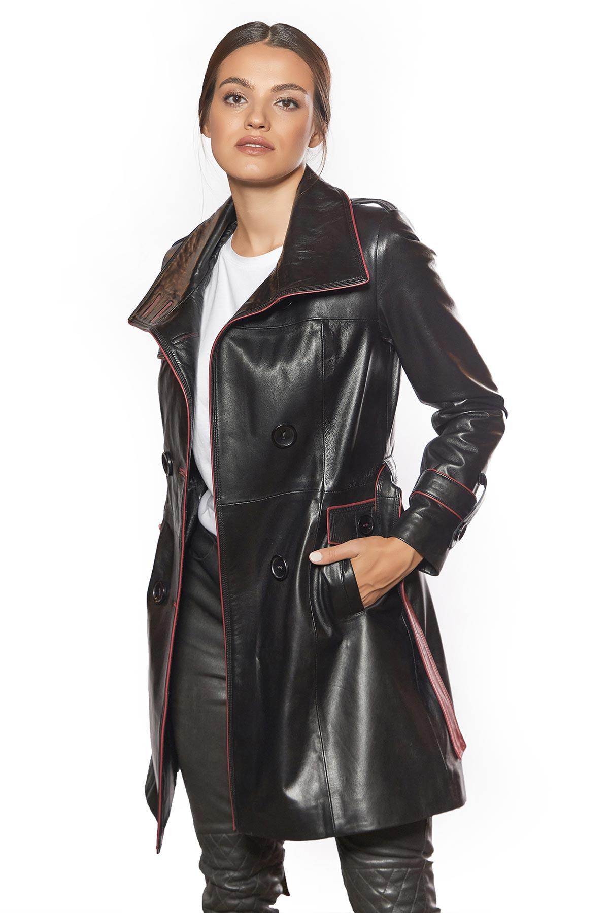 full grain leather jacket womens