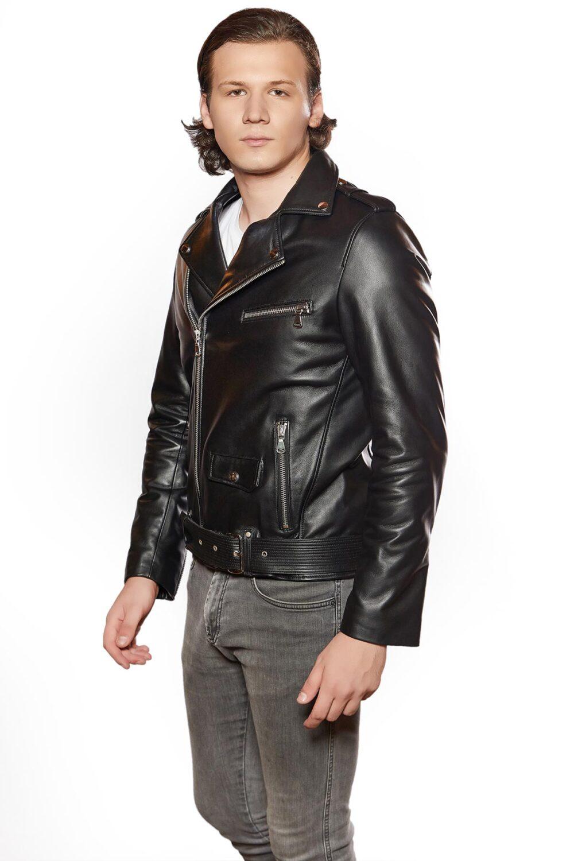 vince leather jacket moto for mens