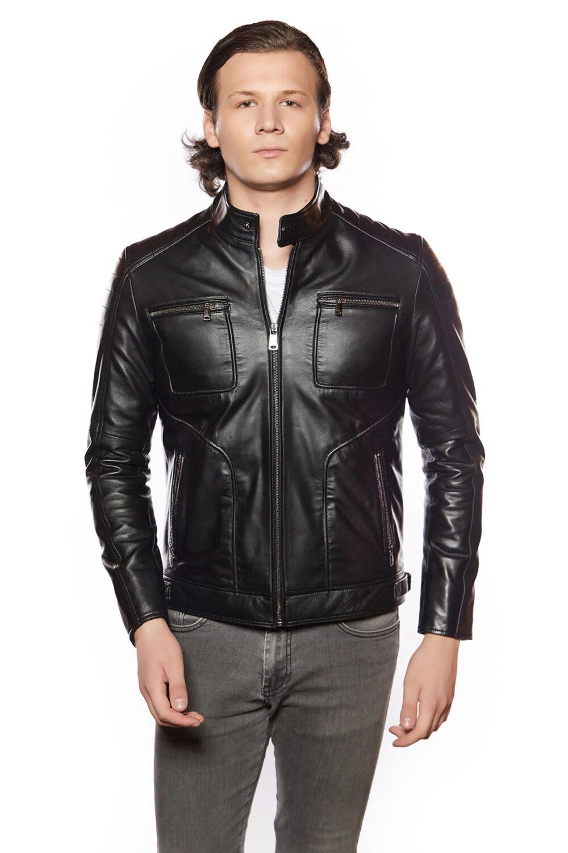 Armondo Sport Leather Jacket Black