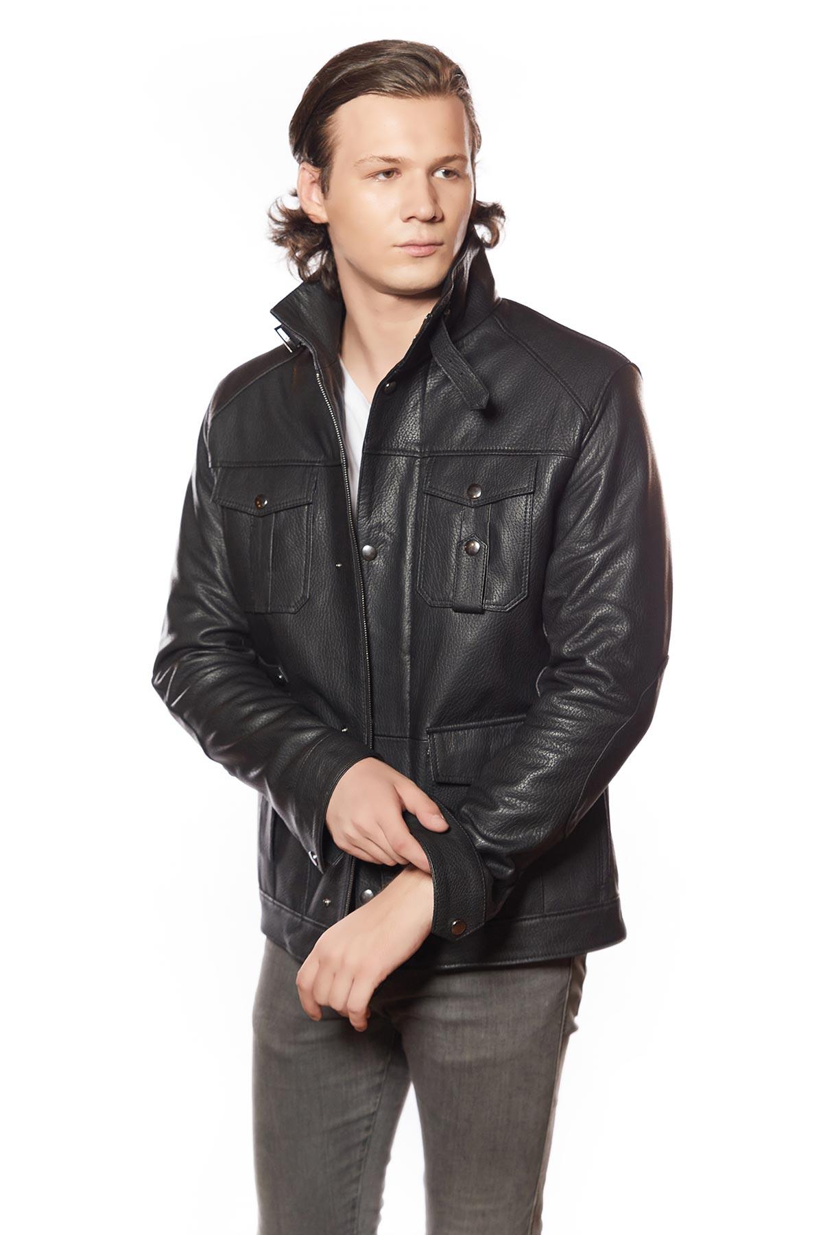 genuine leather jacket mens bomber
