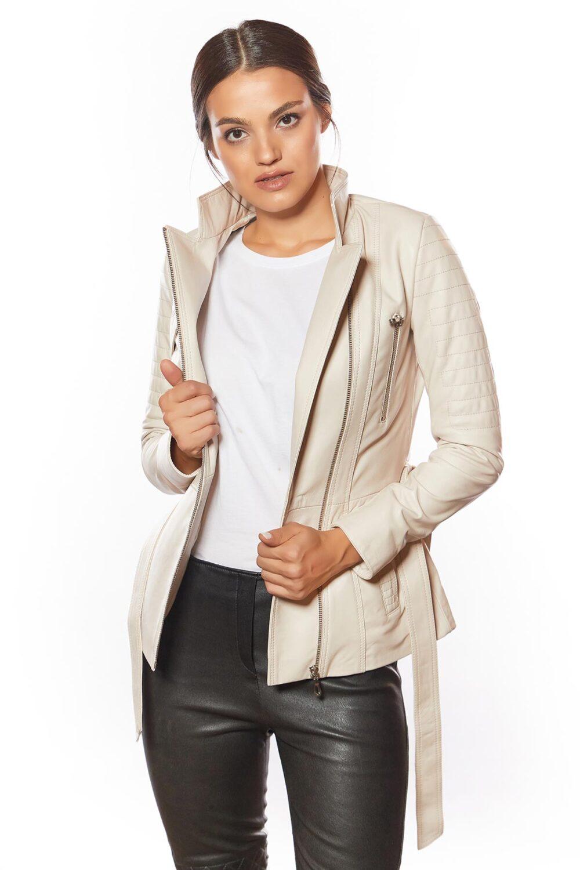 best beige leather coat for ladies